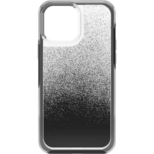 77-83507-OtterBox Apple  iPhone 13 Pro Max Symmetry Series Clear Antimicrobial Case - Ombre Spray (Clear/Black) (77-83507)