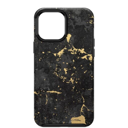 77-83580-OtterBox Apple  iPhone 13 Pro Max Symmetry Series Antimicrobial Case - Enigma Graphic (Black/Gold) (77-83580)