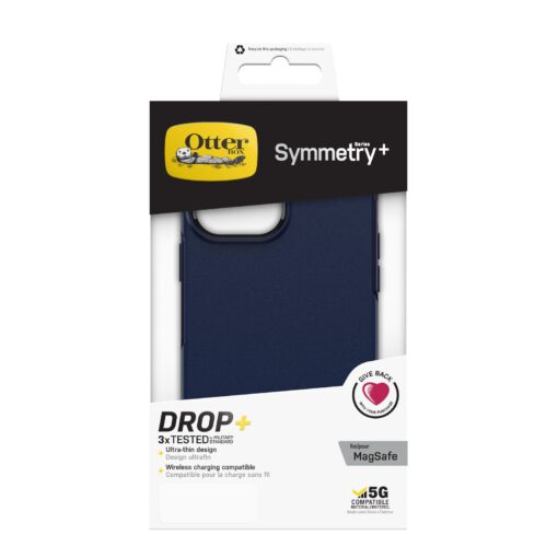 77-83602-OtterBox Apple iPhone 13 Pro Max Symmetry Series+ Antimicrobial Case with MagSafe - Navy Captain (Blue) (77-83602)