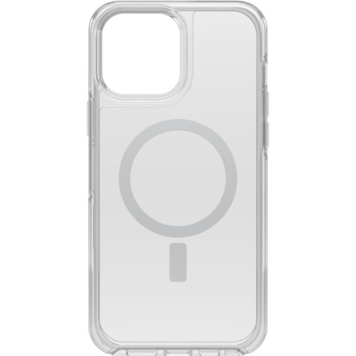 77-83662-OtterBox Apple  iPhone 13 Pro Max Symmetry Series+ Clear Antimicrobial Case for MagSafe (77-83662) - Strong magnetic alignment and attachment