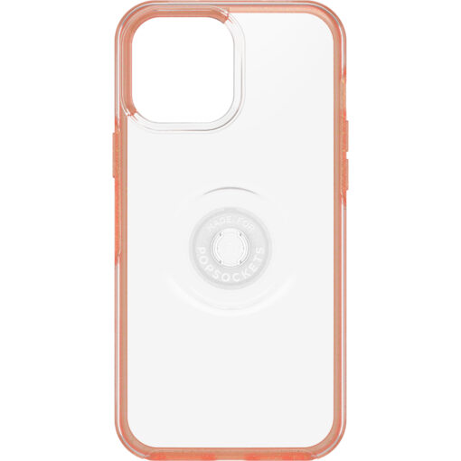 77-83713-OtterBox Apple iPhone 13 Pro Max Otter + Pop Symmetry Series Clear Case - Melondramatic (Clear/Orange) (77-83713)