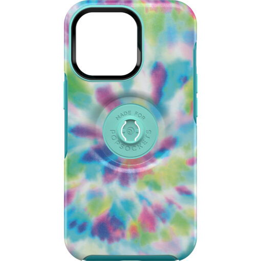 77-84578-OtterBox Apple iPhone 13 Pro Otter + Pop Symmetry Series Antimicrobial Case - Day Trip Graphic (Green/Blue/Purple) (77-84578)
