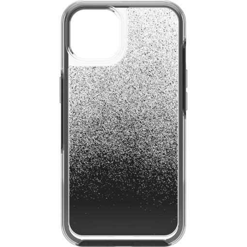 77-85305-OtterBox Apple iPhone 13 Symmetry Series Clear Antimicrobial Case - Ombre Spray (Clear/Black) ( 77-85305)