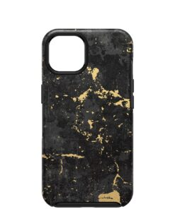 77-85373-OtterBox Apple iPhone 13 Symmetry Series Antimicrobial Case - Enigma Graphic (Black/Gold) (77-85373)