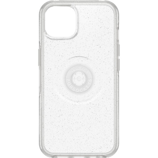 77-85395-OtterBox Apple  iPhone 13 Otter + Pop Symmetry Series Clear Case - Stardust Pop(77-85395 ) - Raised edges protect camera and screen