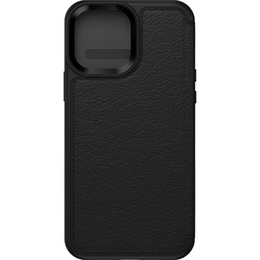 77-85800-OtterBox Apple iPhone 13 Pro Max Strada Series Case (77-85800)  - Shadow Black - Slim profile slips easily in and out of pockets