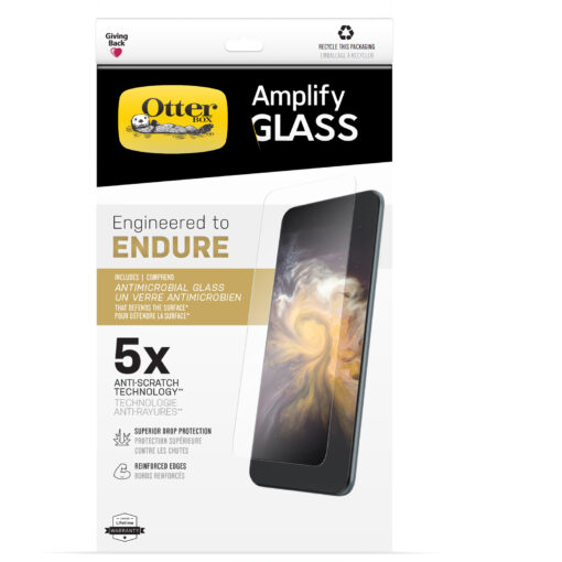 77-85948-OtterBox Apple iPhone 13 and iPhone 13 Pro Amplify Glass Antimicrobial Screen Protector - Antimicrobial  (77-85948)