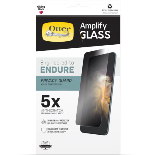 77-85964-OtterBox  iPhone 13 Pro Amplify Glass Privacy Screen Protector ( 77-85964 ) - Clear - Ultra-thin
