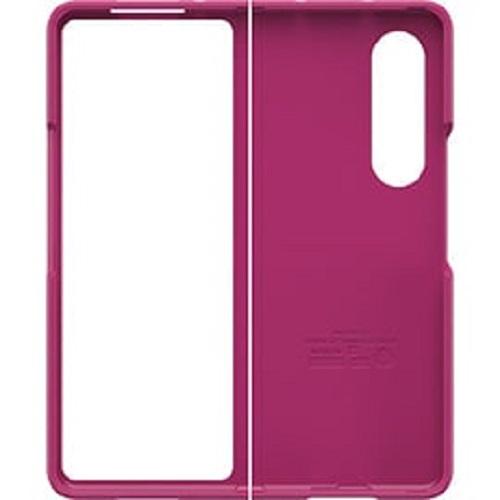 77-87378-OtterBox Samsung Galaxy Z Fold3 5G Thin Flex Series Case - Fuchsia Party (Pink)