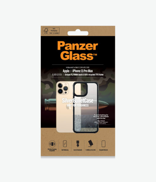 0320-PanzerGlass™ SilverBullet Case for iPhone 13 Pro Max - Most powerful ClearCase™ ever