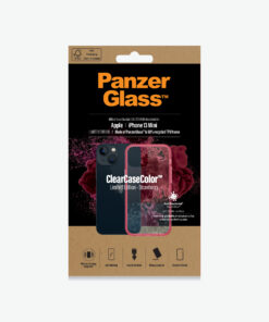 0330-PanzerGlass™ SilverBullet Case for iPhone 13 Mini - Strawberry - Slim Fashionable Design