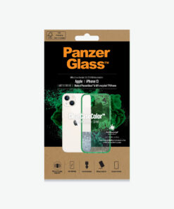 0334-PanzerGlass™ SilverBullet Case for iPhone 13 - Lime - Slim Fashionable Design