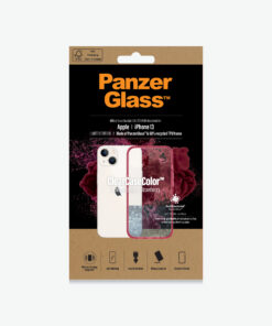 0335-PanzerGlass™ ClearCase™ iPhone 13  - Strawberry - Slim Fashionable Design