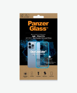 0336-PanzerGlass™ SilverBullet Case for iPhone 13 Pro - Bondi Blue - Most powerful ClearCase™ ever
