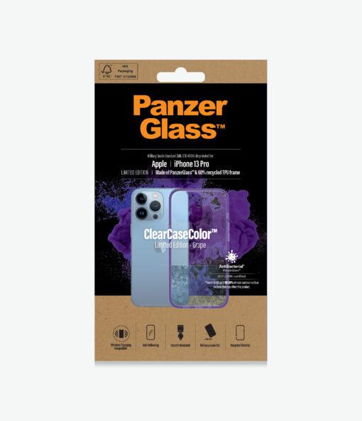 0337-PanzerGlass™ SilverBullet Case for iPhone 13 Pro - Grape - Slim Fashionable Design