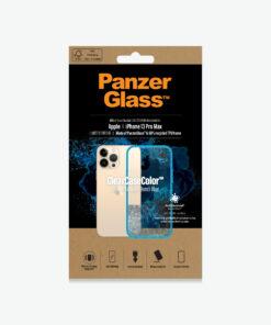0341-PanzerGlass™ SilverBullet Case for iPhone 13 Pro Max - Bondi Blue - Slim Fashionable Design