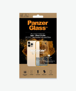0343-PanzerGlass™ SilverBullet Case for iPhone 13 Pro Max  Tangerine - Most powerful ClearCase™ ever