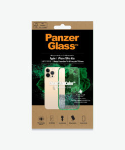 0344-PanzerGlass™ SilverBullet Case for iPhone 13 Pro Max - Lime - Most powerful ClearCase™ ever