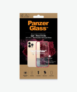 0345-PanzerGlass™ SilverBullet Case for iPhone 13 Pro Max - Strawberry - Most powerful ClearCase™ ever