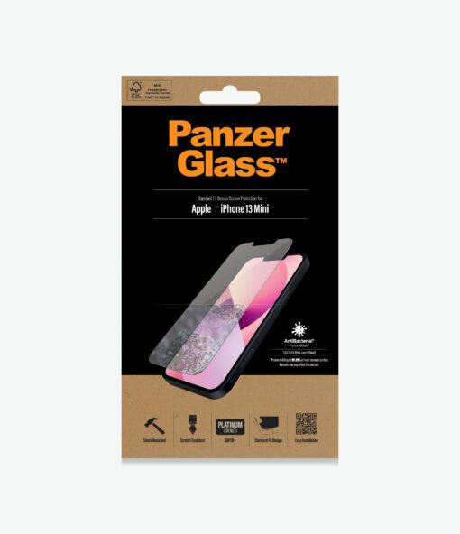 2741-PanzerGlass™ iPhone 13 Mini - Antibacterial Screen protector - Antibactrial glass