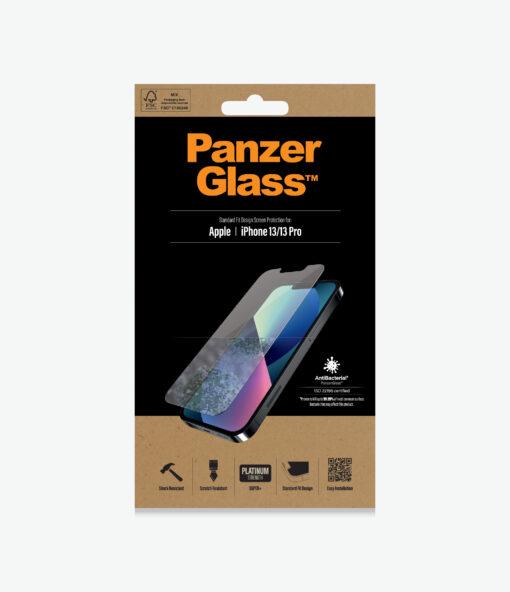 2742-PanzerGlass™ iPhone 13/13 Pro - Antibacterial Screen Protector - Crystal clear