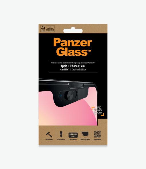 2747-PanzerGlass™ iPhone 13 Mini - CamSlider® - Screen protector - Aantibacterial glass