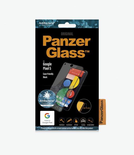 4763-PanzerGlass™ Google Pixel 5 - Black - Screen Protector - Case Friendly