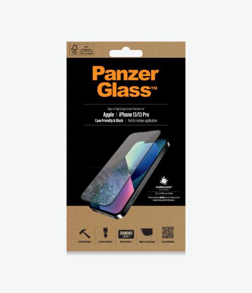 PRO2745-PanzerGlass™ iPhone 13/13 Pro Black - AntiBacterial Screen protector - Antibactrial glass
