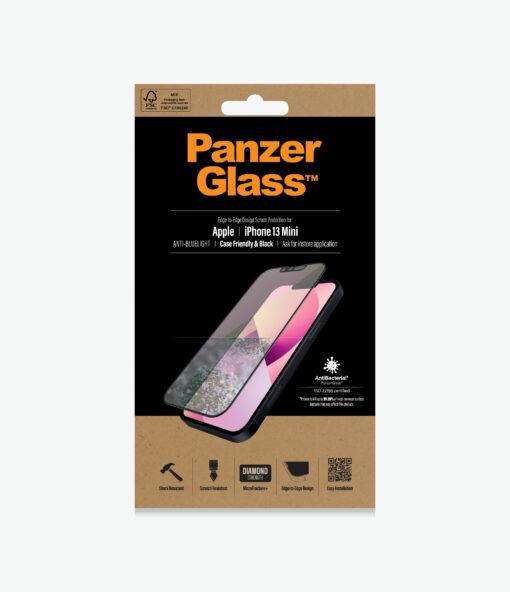 PRO2756-PanzerGlass™ iPhone 13 Mini - Anti-Bluelight Black - Screen protector - Anti blue light glass