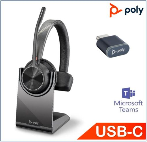 218474-02-Plantronics/Poly Voyager 4310 UC with Charge Stand