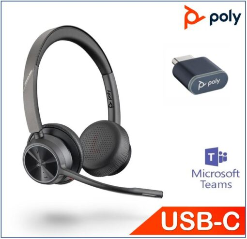 218478-02-Plantronics/Poly Voyager 4320 UC with Charge Stand