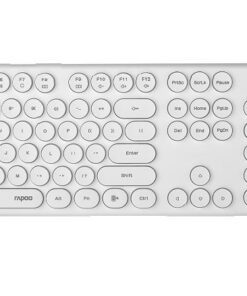 X260-WHITE-RAPOO Wireless Optical Mouse  Keyboard Black - 2.4G Connection