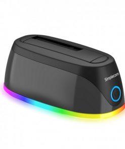 "SD336-Simplecom SD336 USB 3.0 Docking Station for 2.5"" and 3.5"" SATA Drive with RGB Lighting"