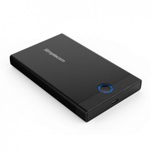 "SE229-Simplecom SE229 Tool-free 2.5"" SATA HDD SSD to USB-C Enclosure USB 3.2 Gen 2"