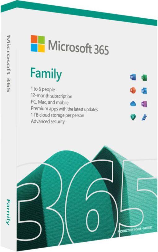 6GQ-01554-Microsoft 365 Family 2021 English APAC 1 Year Subscription Medialess (Replace SMS-M365F-1YRML-6U) NDA Oct 5th