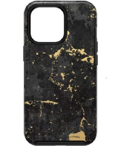 77-83576-OtterBox Apple iPhone 13 Pro Symmetry Series Antimicrobial Case - Enigma Graphic (Black/Gold) (77-83576)