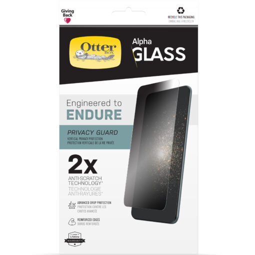 77-85972-OtterBox Apple iPhone 13 Pro Max Alpha Glass Privacy Screen Protector ( 77-85972 ) -  Clear - Ultra-thin