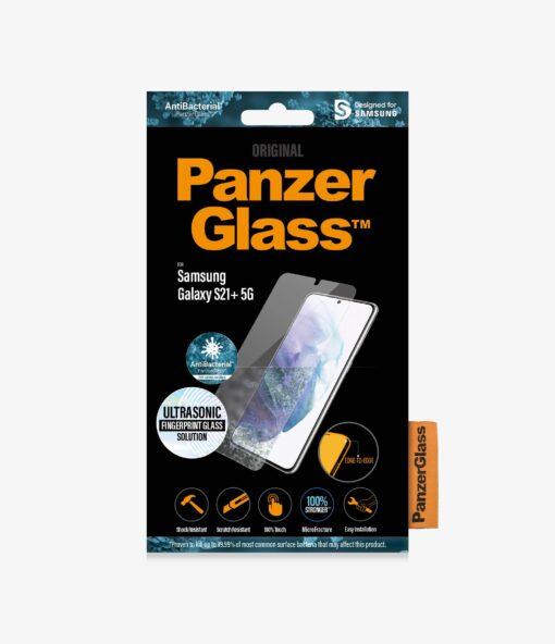 7270-PanzerGlass™ Samsung Galaxy S21+ 5G - Fingerprint - AntiBacterial Screen Protector - Rounded edges