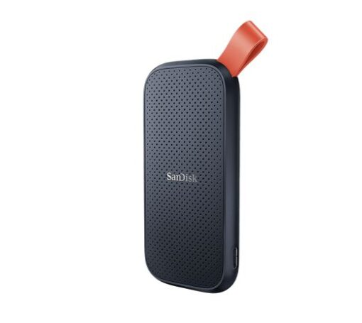 SDSSDE30-480G-G25-SanDisk Portable SSD SDSSDE30 480GB USB 3.2 Gen 2 Type C to A cable Read speed up to 520MB/s 2m drop protection 3-year warranty