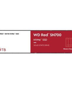 WDS400T1R0C-Western Digital WD Red SN700 4TB NVMe NAS SSD 3400MB/s 3100MB/s R/W 5100TBW 550K/520K IOPS M.2 Gen3x4 1.75M hrs MTBF 5yrs wty