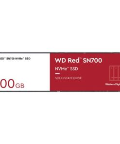 WDS500G1R0C-Western Digital WD Red SN700 500GB NVMe NAS SSD 3430MB/s 2600MB/s R/W 1000TBW 420K/515K IOPS M.2 Gen3x4 1.75M hrs MTBF 5yrs wty